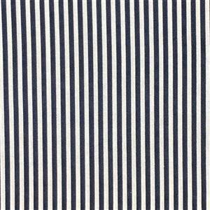 Candy Stripe Navy Fabric 0.5m