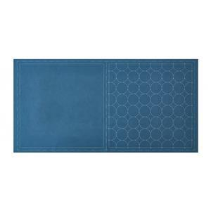 Pre-printed Sashiko Denim Square Panel by Lecien: 32 x 32cm (12.5