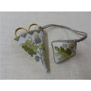 The Cross Stitch Guild Acorn Mini Chatelaine and Watbo
