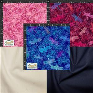 Flowers Chain and Bar Quilt Fabric Bundle (8.5m)