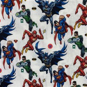 Justice League Super Heroes Fabric 0.5m