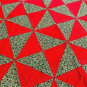 Living in Loveliness Christmas Pin Wheel Quilt Kit - Option 1