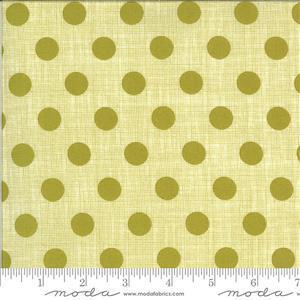 Moda Winkipop Green Polka Dot Fabric 0.5m
