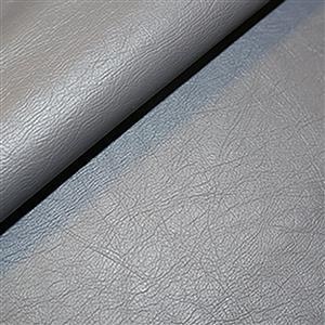 50% Viscose 50% PU Leather Fabric In Grey 0.5m