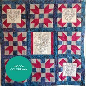 Sew with Beth Life In Full Bloom Lap Quilt Inc Backing Mocca