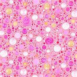 Mindful Mandalas in Pink Pastel Pebble Fabric 0.5m