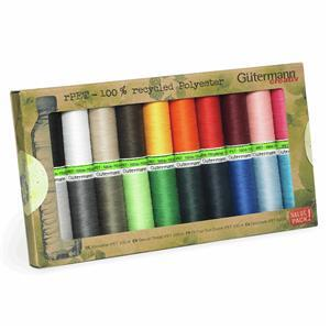 Sew All Recycled Thread Set 20 x 100m Assorted Colours