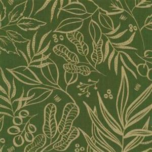 Moda Moody Bloom Dark Green & Gold Fabric 0.5m
