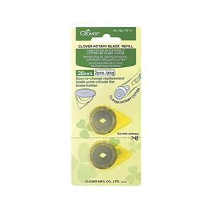 Clover Rotary Blades Refill Pack 28mm x 2