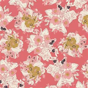 Riley Blake Faith, Hope and Love Berry Fabric 0.5m