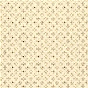 Henry Glass Esters Heirloom Shirtings Cream Nine Patch Clusters Fabric 0.5m