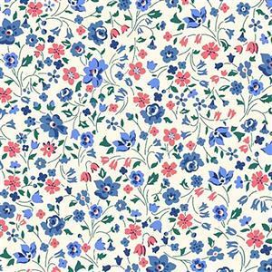 Liberty Orchard Garden Collection Blue & Pink Kimberly and Sarah Fabric 0.5m
