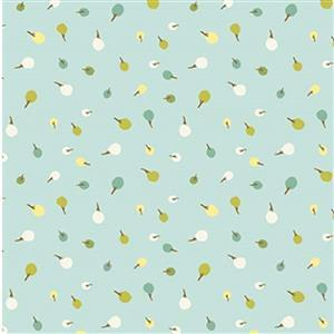 Michael Miller City Hoppers Meadows Trees Blue Fabric 0.5m
