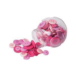 Button Jar Pink