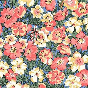 Liberty Orchard Garden Collection Orange Peach Bloom Fabric 0.5m