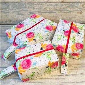 Living in Loveliness Beatrice Boxy Make Up Bags Pattern (3 sizes)