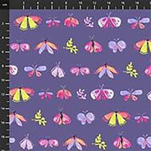 Aerial Petites Betes On Mauve Fabric 0.5m