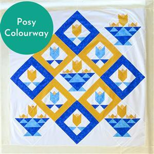 Posy Spring Tulips Quilt Kit: Book & Fabric (6.5m)