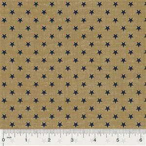 Kingston Stars on Gold Fabric 0.5m