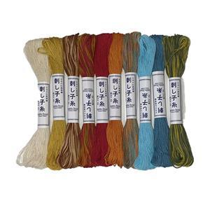 Olympus Sashiko Antique Thread Pack of 10 x 20m Skeins