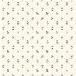 Liberty Emporium Collection Tudor Kingly Sprig Lemon Fabric 0.5m