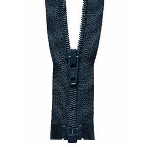 Navy Open End Zip: 36cm
