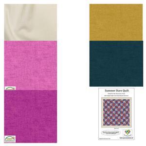 Sally Stevens Summer Stars Rectangle Quilt Kit: Instructions & Melange Fabric (7.5m)