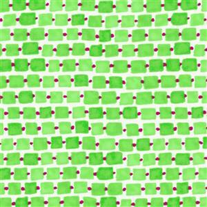 Whimsy Daisical in Green Daisy Chain Fabric 0.5m