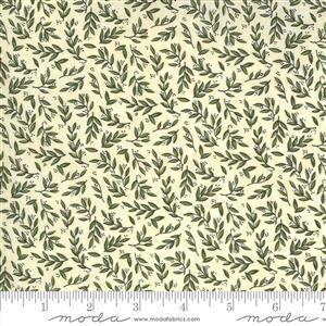Moda Violet Hill in Crem Leaf Fabric 0.5m