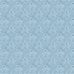 Riley Blake Delightful White Rose Navy Fabric 0.5m
