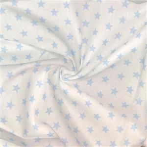 Mini Star Light Blue Fabric 0.5m