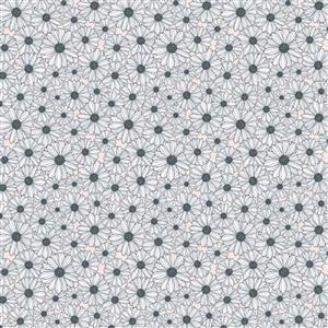 Daisy Mae Country Life Daisy's on Navy Fabric 0.5m