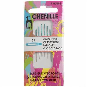 Chenille Colour-Coded Eye Hand Sewing Needles Size 24