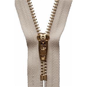 Brass Jeans Zip Beige 18cm