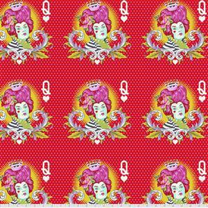 Tula Pink Curiouser And Curiouser in The Red Queen Wonder Fabric 0.5m