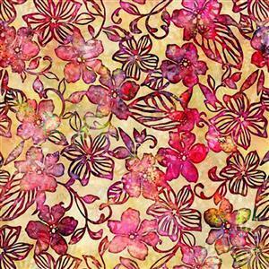 Dan Morris Tropicalia Small Floral Yellow Fabric 0.5m