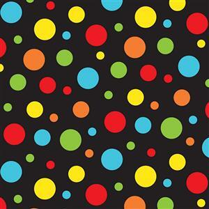 Bugs & Critters in Black Polka Dot Multi 0.5m