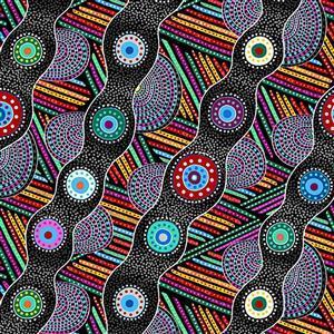 Origins Circles Fabric 0.5m