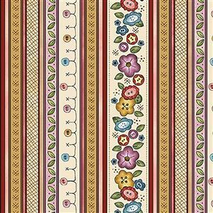 Michael Miller Born to Sew Floral on Multi Fabric 0.5m