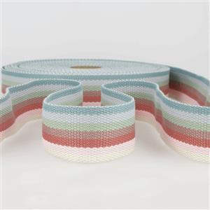 Webbing Multi-Coloured Vintage Stripes 40mm (1m)