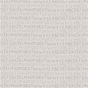 Lynette Anderson Sunshine After The Rain Warm Cream Alphabet Fabric 0.5m