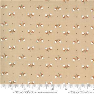 Moda Squirrelly Girl - Dots & Acorns - Latte Fabric 0.5m