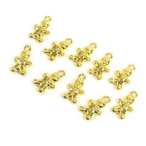 Gold Colour Base Metal Gingerbread Charms Approx 13x9mm (10pcs)