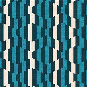 Rita Distorted Stripes Blue Fabric 0.5m