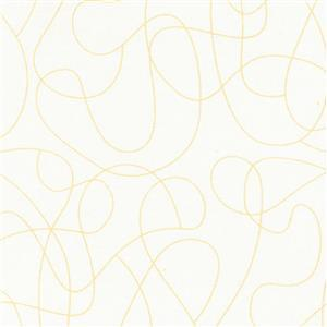 Squiggle Natural Extra Wide Backing Fabric 0.5m (280cm Width)