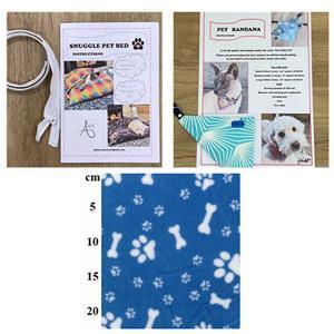 Allison Maryon's Blue Pet Snuggle Bed Kit with Zip, 1m Fleece + Bandana Instructions