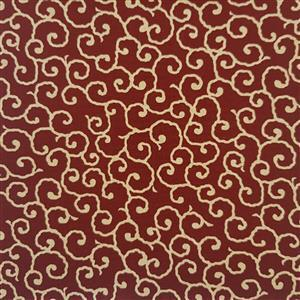 Yano in Red Swirl Fabric 0.5m