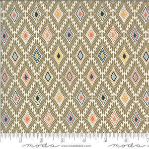 Moda Cider Beige Diamond Multi Fabric 0.5m