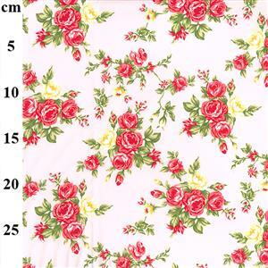 A Bunch of Roses on Pink Fabric 0.5m