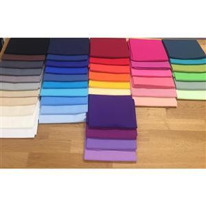 Rainbow 100% Cotton Plain Fabric Mega Bundle (21.5m) Get 2m Free